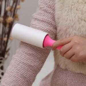 可撕试清洁器10cm衣服粘毛器 除尘滚(40层) 粉色