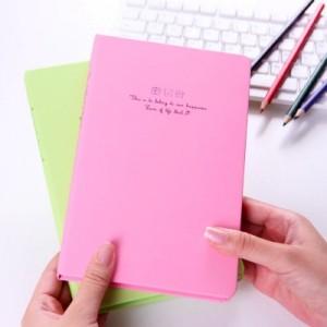 韩国文具 创意彩页日记本 笔记本子 25k96张 花忆硬抄本 LB25K11-0658(超大号) 粉百合
