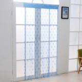 加密款韩式浪漫心形线帘门帘--蓝色