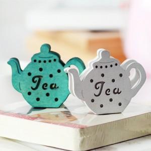 复古茶壶留言夹/名片夹 棕色