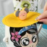 创意食品防漏水杯盖 硅胶盖子 万能密封盖 神奇魔术硅胶杯盖 粉色