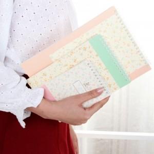 韩国文具 Graden时尚碎花线圈本32K 记事本 笔记本13C051 米色