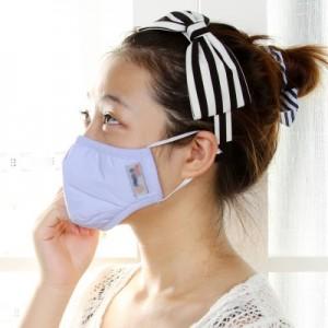 骑行防护男女成人防雾霾防晒防PM2.5透气抗菌防尘口罩 PM-002(S码) 蓝色