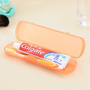 糖果色透气防菌出差旅行大号牙刷盒/收纳盒--橘色