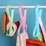 创意家居多功能晾晒夹 优质塑料晒被子架 枕头大夹子 多用防风架  粉色