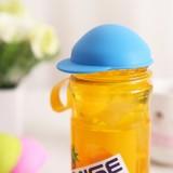 日式可爱帽子易拉罐密封盖 可乐保鲜盖 硅胶防尘杯盖 橙色