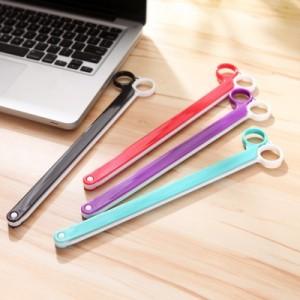 日本优质塑料剪刀形食品密封夹封口夹 大号 紫色