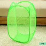 大号新款创意家居彩网折叠式脏衣篮/衣服收纳筐/脏衣篮-绿色