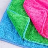 厨房可挂式棉绒擦手毛巾 创意加厚柔软吸水 玫红