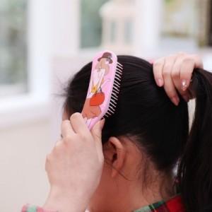 长柄便携按摩头皮时尚美发梳子 YC-3073