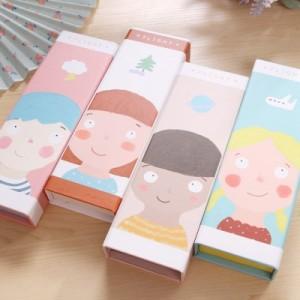 韩国纸质可爱铅笔盒飞行记纸笔盒MH14-670 黑发男孩