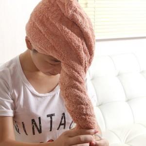 加大加厚干发帽 超强吸水 速干帽 干发巾 浴帽 包头洗发巾 红色