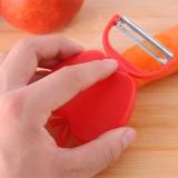 多功能苹果型不锈钢削皮器 可折叠瓜果刨 去皮刀--红色 1箱2000个