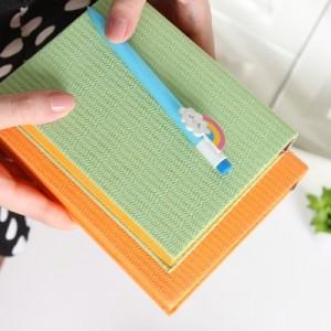 韩国时尚创意超厚编织纹64K180张尚记皮本(小号) LB64K40-0363 咖啡