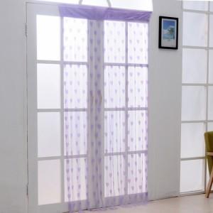 加密款韩式浪漫心形线帘门帘--紫色