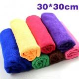 超细纤维纳米洗车毛巾/擦车巾-混色30*30cm