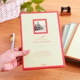 创意25K64张办公作业环保纸质纪念硬抄本 记事本 本子LB-25K11707  红色
