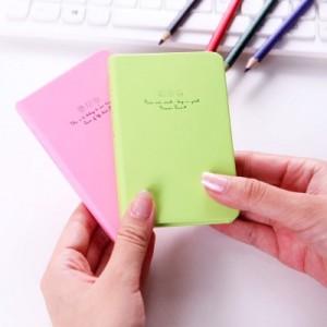 韩国文具 创意彩页日记本 笔记本子 128k96张 花忆硬抄本 LB128K11-0661 (小号) 绿玫瑰
