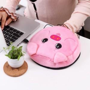 春笑牌 USB暖手鼠标垫暖手宝 发热垫 粉猪2506