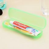 糖果色透气防菌出差旅行大号牙刷盒/收纳盒--绿色