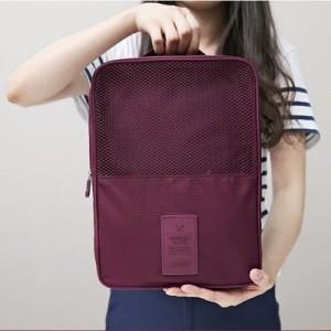 旅行收纳袋整理包   旅游必备行李箱防水鞋包鞋盒 浅蓝色