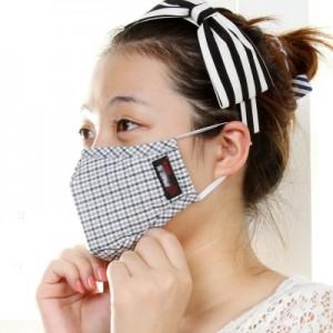 骑行防护男女成人防雾霾防晒防PM2.5透气抗菌防尘口罩 PM-008-2(灰格S码)