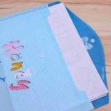 韩版微笑字母按扣A4文件袋 H43