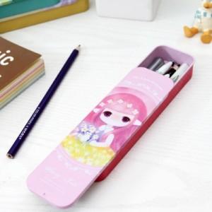 精灵物语手推盒 创意学生用品马口铁文具盒 铅笔盒 SV13-434 粉色