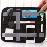 单面弹性收纳板iPad 保护套收纳包 旅行物品收纳包(大号) 黑色
