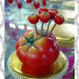 韩版仿真树脂水果叉子套装 零食叉 水果签--西红柿