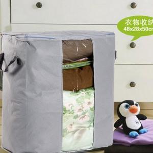 多彩竹炭67L加高衣物收纳袋 整理袋 抗菌收藏袋 灰色 200个/箱