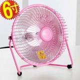 防寒必备6寸铁艺小太阳电暖风机/迷你桌面取暖器 粉色 36个/箱