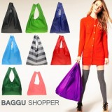日式baggu糖果色折叠购物袋(OPP袋)纯色款 浅绿色