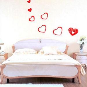 波尔卡心形浮雕立体墙贴/DIY电视背景墙装饰