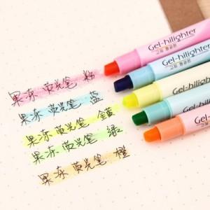 韩国文具进口固体荧光笔 果冻笔 PA-806(单支售) 橙色