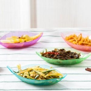 创意厨房多用调味碟 树叶造型开胃碟 小菜碟 蓝色
