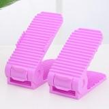 艺源第四代双层立体式亲子鞋架 1对装--紫色(成人款)