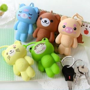 韩国创意多功能卡通动物可爱硅胶钥匙扣钥匙包钥匙套 黄猫