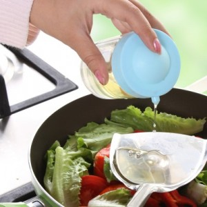 厨房必备 时尚炫彩糖果色控油壶 调味瓶(小号) 黄色