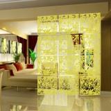 现代简约雕花镂空挂式屏风/墙贴--黄色( 4个装)