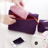 时尚旅行便携洗漱包 可挂式化妆包 多功能收纳包 旅行必备收纳袋(大号) 紫色