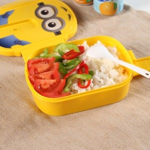 创意小黄人可爱卡通塑料饭盒 0212