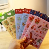 韩国创意文具欢乐时光贴纸 装饰贴(3张装)QL-0202 动物