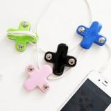 可爱韩国正品 十字绕线器耳机线整理器集线器 手机配件 绿色