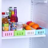 创意厨房冰箱多功能收纳盒 分隔式按扣抽屉整理盒 粉色