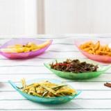 创意厨房多用调味碟 树叶造型开胃碟 小菜碟 粉色