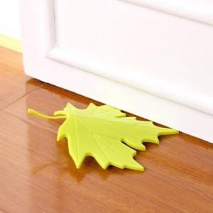创意家居枫叶落叶造型免打孔门挡门档门阻门塞 绿色