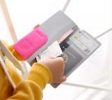 旅行必备糖果色漆皮多功能双开长型证件包护照包护照套卡包 玫红