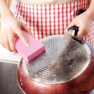 日式纳米强力魔力锅刷 神奇灶台顽渍清洁海绵 磨刀石 大小2个装(2048)