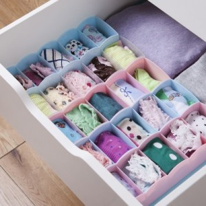 多功能5格袜子/杂物收纳盒 绿色
